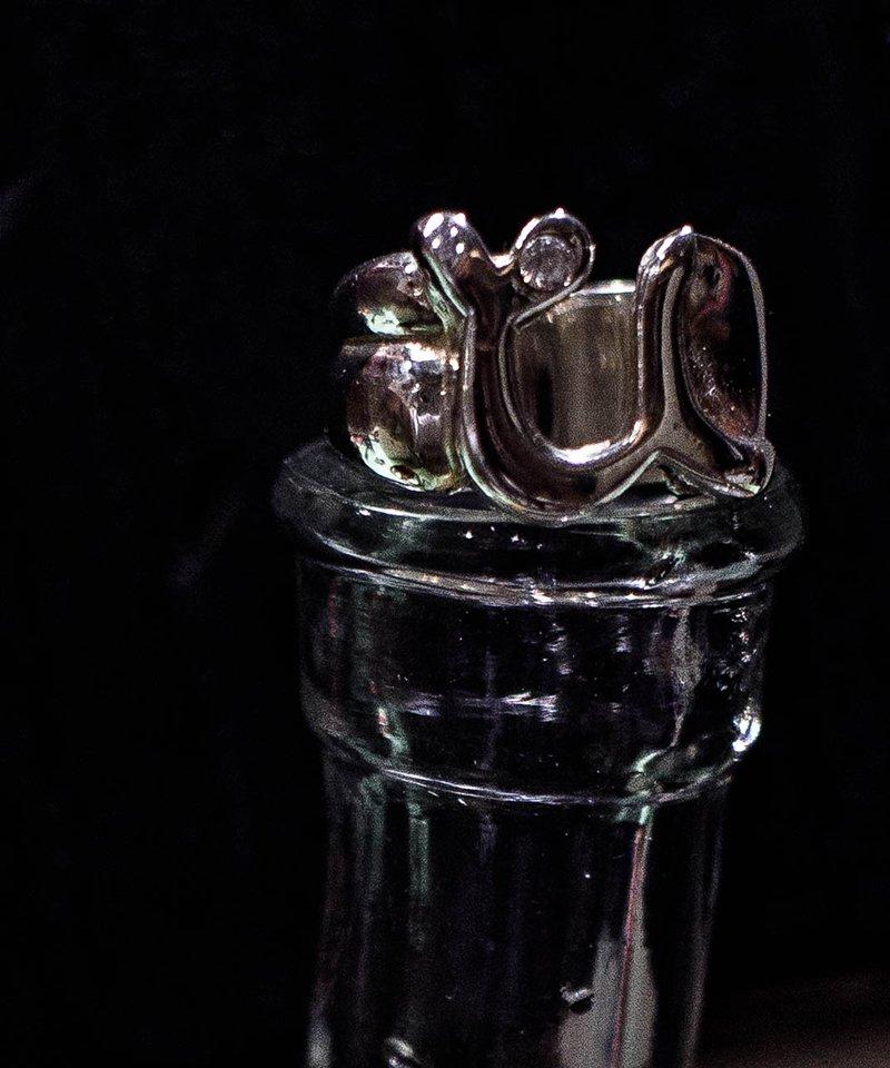 [予約商品]EFFECTEN/エフェクテン   'u'pinky ring'zirconia'