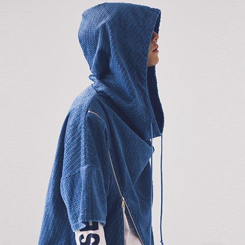 [予約商品]EFFECTEN(エフェクテン)   corduroy zip big hoodie