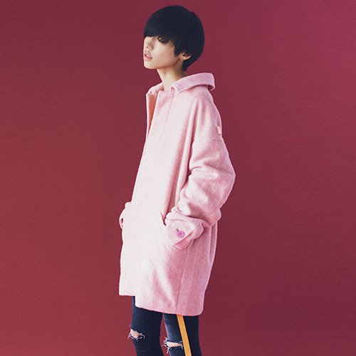 [予約商品]EFFECTEN/エフェクテン     alpaca shaggy drop shoulder coat