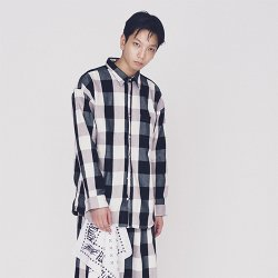 EFFECTEN/エフェクテン    classical flannel over silhouette shirt