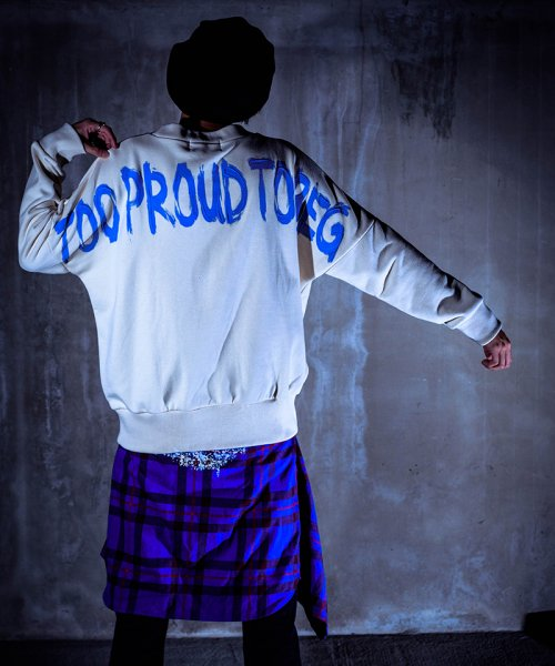 [予約商品]EFFECTEN/エフェクテン  `TOO PROUD TO BEG'dorop shoulder sweat