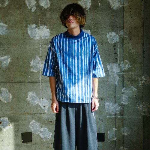 EFFECTEN(エフェクテン) STRIPE PULLOVER SHIRT