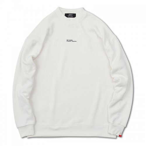 【 SPOT ITEM 】[予約商品]SAY(セイ)     WGS84 KNIT-FLEECE SWEAT