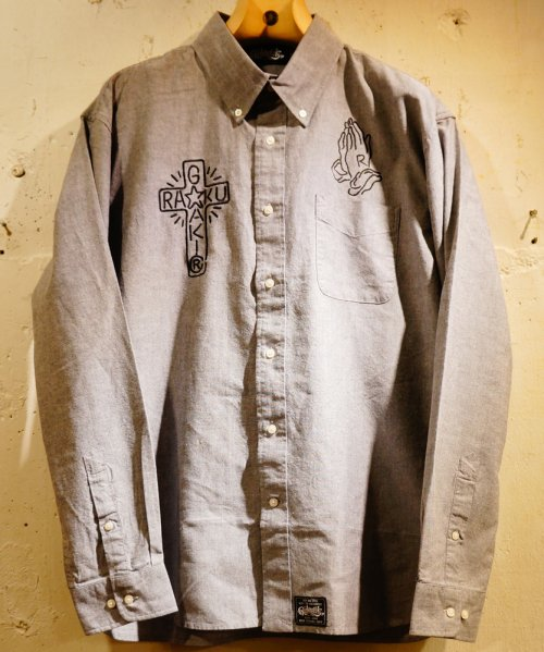 [予約商品]RAKUGAKI NEON Embroidery OX Ford Shirts