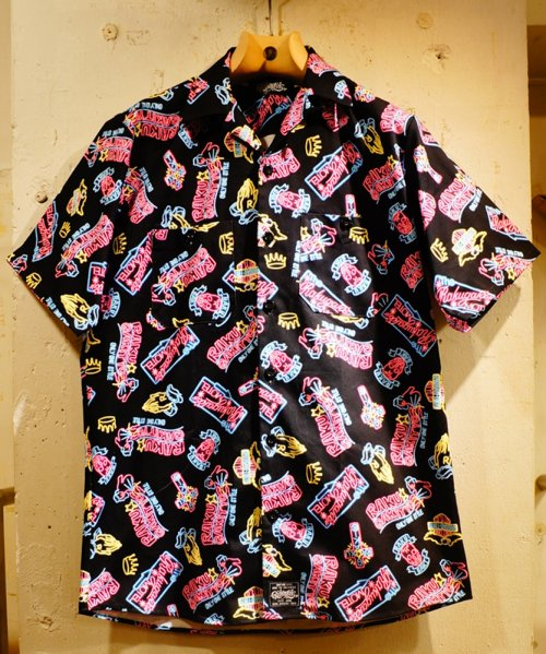 [予約商品]RAKUGAKI NEON Logo Work Short Sleeve Shirts