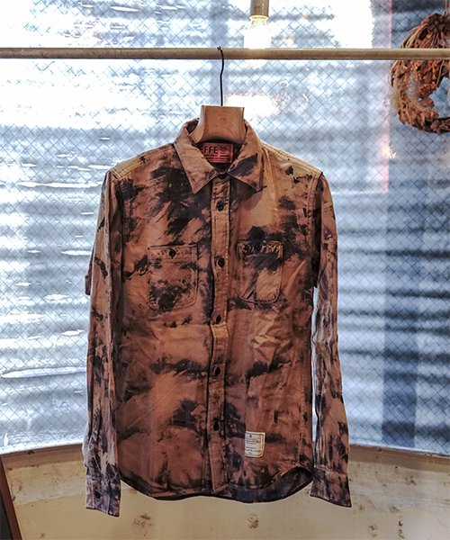 EFFECTEN(エフェクテン)[SPOT ITEM] HARD BLEACH BLOCK CHECK SHIRT