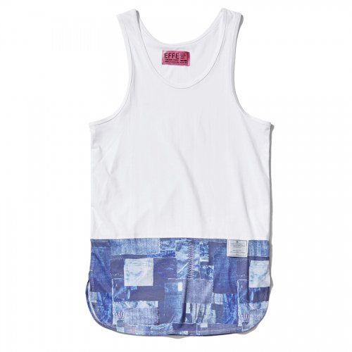 EFFECTEN(エフェクテン) 'denimpatchwork' tank top