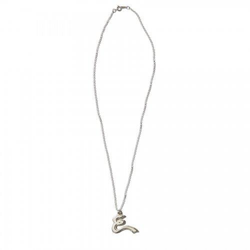 EFFECTEN/エフェクテン  plate necklace 'E'