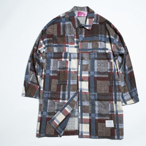EFFECTEN(エフェクテン) flannel patchwork over shirts