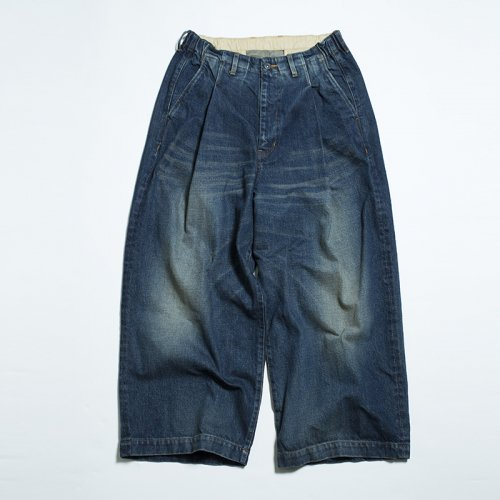 EFFECTEN(エフェクテン) tuck wide denim pants(Bleach)