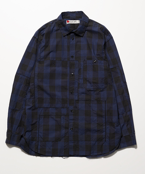 [予約商品]SEVESKIG/セブシグPANEL BUFFALO CHECK BORO-SHIRT