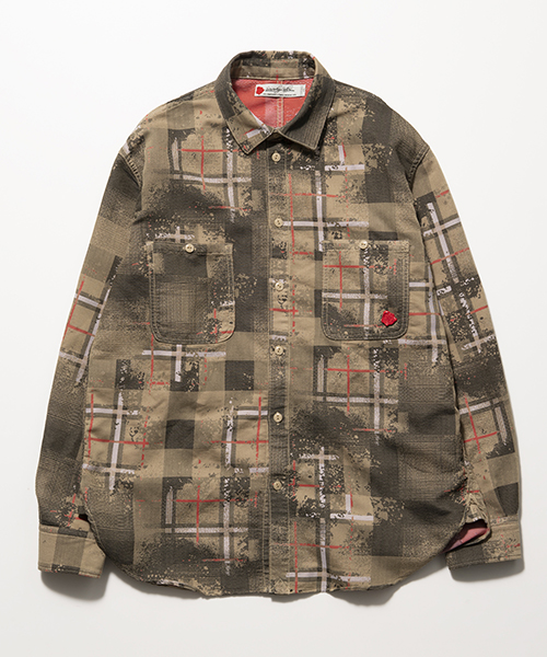 SEVESKIG/セブシグ OVERLAID JACQUARD CHECK SHIRT