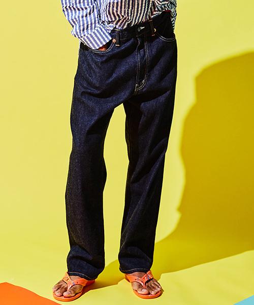 [予約商品]SEVESKIG/セブシグ RIGID STRAIGHT DENIM PANTS(701)
