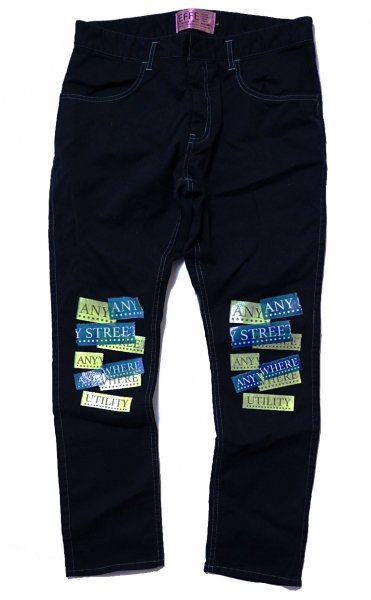 EFFECTEN(エフェクテン) Jet black skinny pants'ANY STREET ANY WHERE'