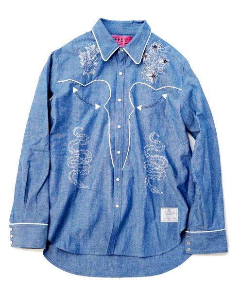 EFFECTEN(エフェクテン) Dungaree Western shirt
