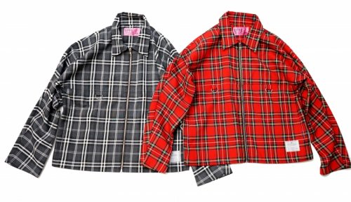 EFFECTEN(エフェクテン) tartan check swing top