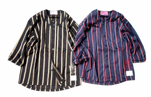 EFFECTEN(エフェクテン) London stripe baseball shirts