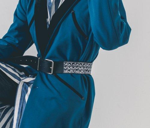 EFFECTEN(エフェクテン) studs print leather belt(三連)