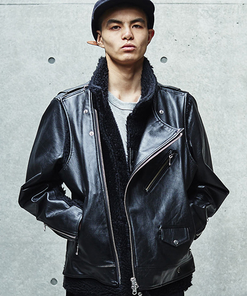 [予約商品]SEVESKIG/セブシグ FDMTL×SEVESKIG detachable RIDERS JACKET