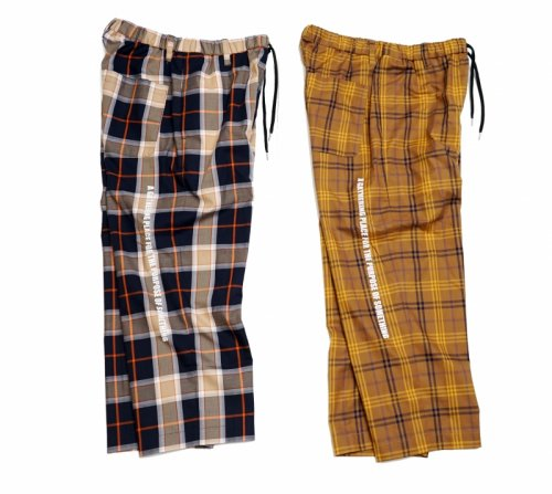 EFFECTEN(エフェクテン)twill check Sleeping pants