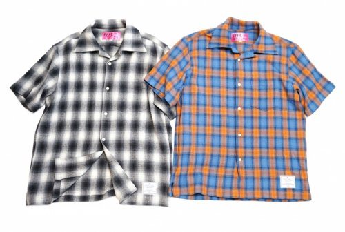 EFFECTEN(エフェクテン)championcheck open-collar shirt