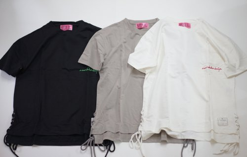 EFFECTEN(エフェクテン)lace up slit s/s tee