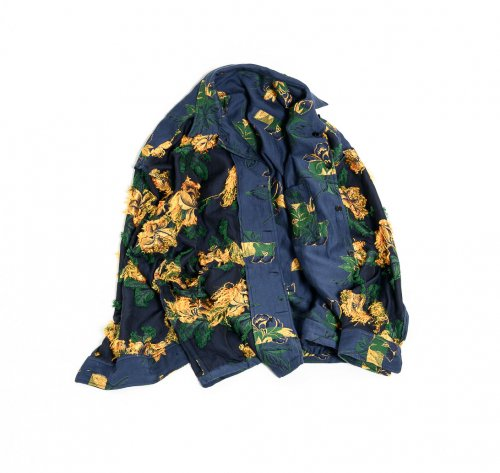 [予約商品]EFFECTEN(エフェクテン)  BIG FLOWER reversible shirts blouson