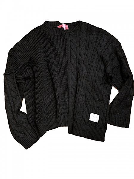 EFFECTEN(エフェクテン) asymmetry pattern knit