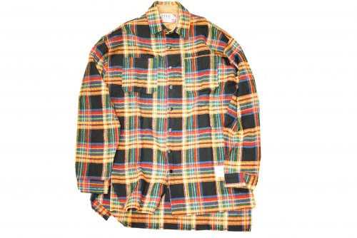EFFECTEN(エフェクテン) long check slit shirt