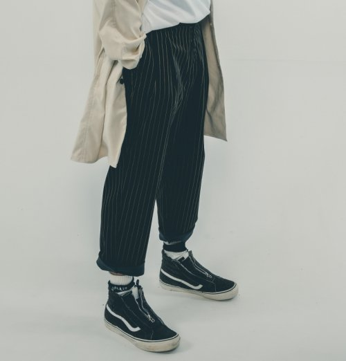EFFECTEN(エフェクテン) 2tuck Stripe Velor Pants