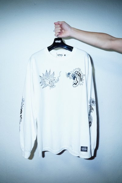 "RAKUGAKI(ラクガキ) / Rakugaki ""TIGER & DRAGON"" Long Sleeve T-Shirts"
