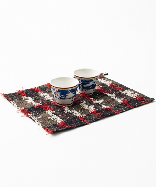 [予約商品] SEVESKIG/セブシグ DRAWING JACQUARD DYED BANDANA PLACE MAT