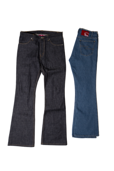 [予約商品]EFFECTEN(エフェクテン)upon the track flare denim pants [Rigid]