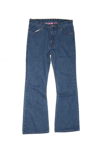 [予約商品]EFFECTEN(エフェクテン)upon the track flare denim pants [Bleach]
