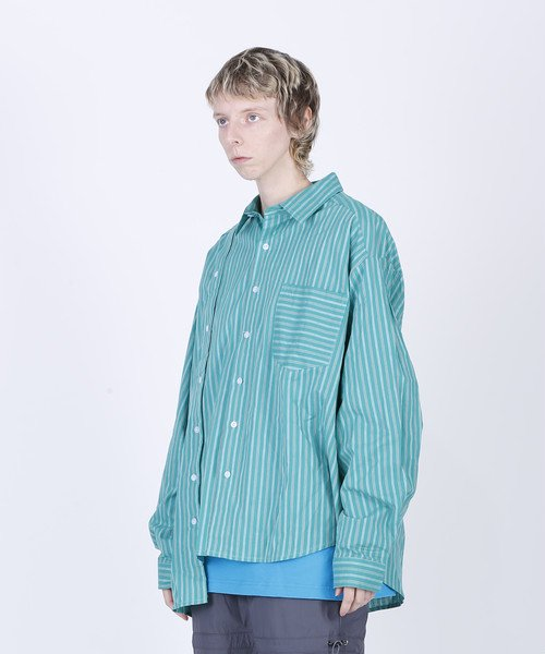 ADANS(アダンス) DOCKING STRIPE SHIRT
