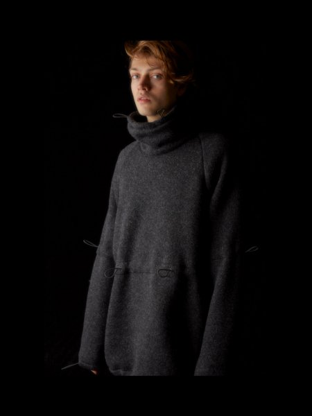 RICE NINE TEN (ライスナインテン) ADJUSTMENT HIGH NECK MIX KNIT