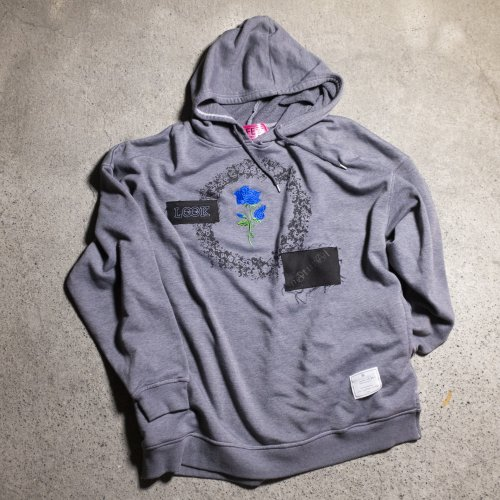 [spot item]EFFECTEN(エフェクテン) / ROSE embroidery custom HOODIE