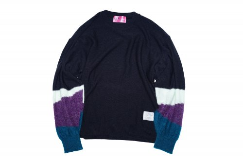 [spot item]EFFECTEN(エフェクテン) / light up path dolman sleeve knit(Blue type)