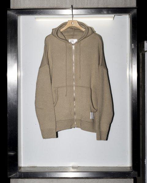 U-BY EFFECTEN(ユーバイエフェクテン) knit zip hoodie