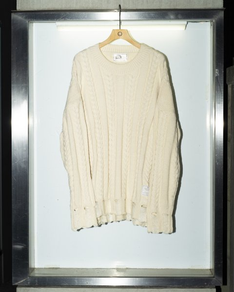 U-BY EFFECTEN(ユーバイエフェクテン) crash cable knit