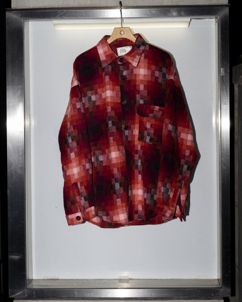 U-BY EFFECTEN(ユーバイエフェクテン) digital check shirts