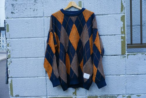 U-BY EFFECTEN(ユーバイエフェクテン) argyle pattern knit