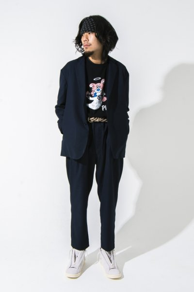 [予約商品] EFFECTEN(エフェクテン)  with ur w/b tailored collar jacket (basic line)