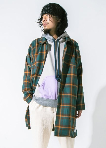 EFFECTEN(エフェクテン)  unlike check shirts coat