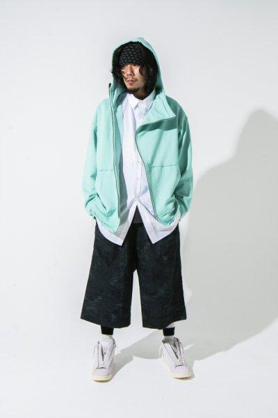 [予約商品] EFFECTEN(エフェクテン) suggestion diagonal zip hoodie