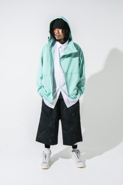 EFFECTEN(エフェクテン) suggestion diagonal zip hoodie