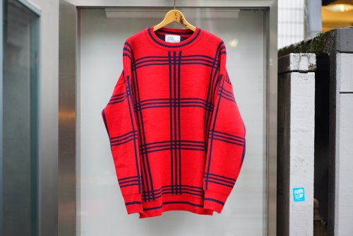 U-BY EFFECTEN(ユーバイエフェクテン) triple check knit