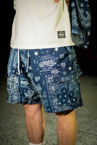"""[予約商品] RAKUGAKI(ラクガキ)Rakugaki """"BANDANA"""" Short Pants"""