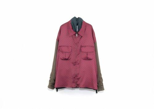 elephant TRIBAL fabrics (エレファントトライバルファブリックス ) / Reversible fatigue JKT BLACK (ファイヤーパターン柄)