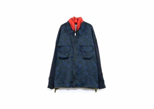 elephant TRIBAL fabrics (エレファントトライバルファブリックス ) / Reversible fatigue JKT KHAKI (バロック柄)